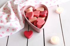 These sweet little lotion bars are the perfect romantic gift for your skin. With a blend of natural ingredients like shea butter, this lotion bar recipe will soothe and soften dry, winter skin. Use a heart-shaped mold and a romantic blend of three essential oils to create a fun Valentine's Day project.