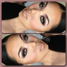 Wedding make up - used my bh cosmetics 88 matte eyeshadow palette, on lips nyx lip pencil in natural, ysl and mac cosmetics oyster girl lipgloss, on brows used anastasia beverlyhills ❤ ℒℴvℯly Flawless Makeup, Gorgeous Makeup, Pretty Makeup, Love Makeup, Skin Makeup, Makeup Inspo, Makeup Inspiration, Makeup Kit, Sleek Makeup