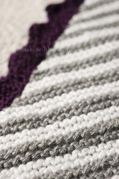 Rust & Sunshine: Knitted Baby Blanket #2