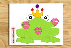 On this page you will find Free Printable Pin the Kiss on Frog Princess Party…