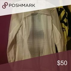 Lululemon jacket (run wild) White sheer mesh super lightweight , im selling so cheap cuz theres no tag, i will be measuring sometime today,as soon as i can find my darn tape measure so please be patient ?????? lululemon athletica Jackets & Coats