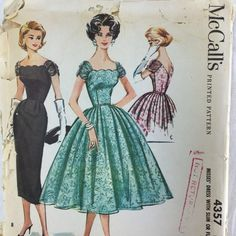 McCall's 4357 Vtg 1950s Cocktail Dress Pattern by TheTasteLady