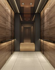 Be Inspired @studiomunge | #elevator #elevatordesign #design #designinspo #hotel Lobby Interior, Arch Interior, Office Interior Design, Interior Lighting, Elevator Lobby Design, Stair Elevator, Lift Design, Cabin Design, Stair Lift