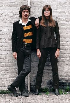 Jean-Marie Perier - Photographe - Francoise Hardy and Mick Jagger. Londres, 1965