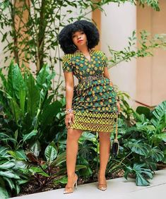 Best African Ankara Fashion Styles: Latest and Creative Fashion Design Trends for 2020 Short African Dresses, Latest African Fashion Dresses, African Print Dresses, African Print Fashion, Ankara Fashion, Africa Fashion, African Prints, African Fabric, Short Sleeve Dresses