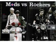 Early mods and rockers, meet on their way to an interoperability workshop.
