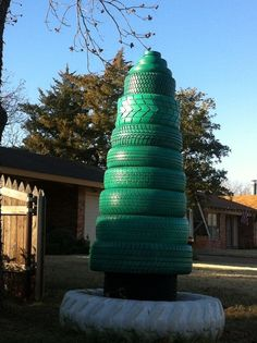 repurposed tires | Outdoor tree | Second Chance Ideas-Repurposed Tires