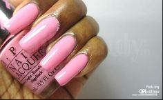 Gorgeous pink acrylic nails