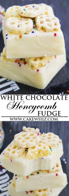 This easy, no bake, 2 ingredient WHITE CHOCOLATE FUDGE recipe requires only condensed milk and white chocolate. It's rich, fudgy, creamy and great as a dessert or homemade gift for the Christmas Holidays. {Ad} From cakewhiz.com