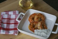 Perfect #tailgate snack: grilled buffalo-barbeque shrimp