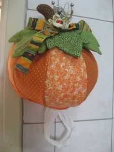 Puxa-saco abóbora patchwork