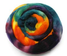 Flower Shop Inferno - Hand Dyed Roving - Spinning Fiber - BFL - Falkland - Shetland - Targhee- Cheviot - Dyed to Order