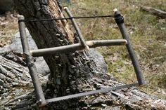 """How to Build a Bushcraft Bucksaw!! """"The 15 minute Saw"""" Say you have a nice saw blade but no handle. You can make a really simple but effective bucksaw with some sticks and basic mater…"""
