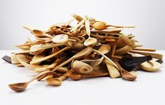 Wooden Spoons and Bowls by Nic Webb