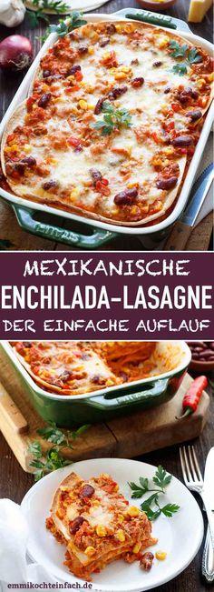 Mexican Enchilada Lasagna - easy to cook Mexican Enchilada Lasagna .- Mexican Enchilada Lasagna – easy to cook Mexican Enchilada Lasagna Enchiladas Mexicanas, Crock Pot Recipes, Freezer Recipes, Freezer Cooking, Cooking Tips, Mexican Food Recipes, Vegetarian Recipes, Dinner Recipes, Mexican Desserts