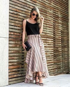 Women S Fashion Dresses Online Traje Casual, Dress Skirt, The Dress, Chambray Skirt, Iranian Women Fashion, Girl Fashion, Fashion Dresses, Cute Skirts, Bollywood Fashion