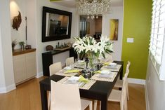 dining room - set table
