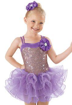 Weissman™ | Sequin Tiered Curly Hem Skirt Dress
