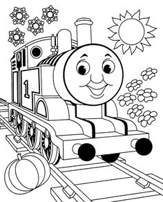 Mewarnai Gambar thomas and friends