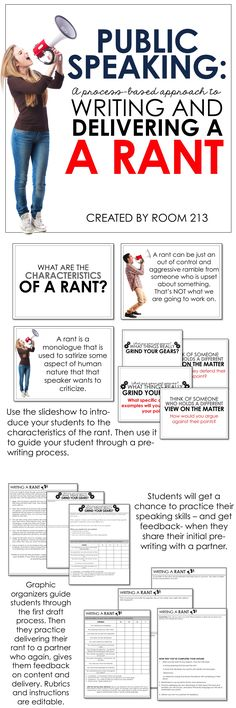 Middle and high school English teachers: use this public speaking activity to engage your students and to teach them the speaking process. Education English, English Teachers, Teaching English, English Writing, Public Speaking Activities, Public Speaking Tips, Ap Language, Foreign Language, Speech And Debate