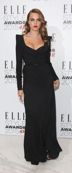 Cara Delevingne in Vivienne Westwood gown at 2015 Elle Style Awards.