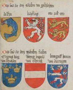 Wappenbuch des St. Galler Abtes Ulrich Rösch Heidelberg · 15. Jahrhundert Cod. Sang. 1084  Folio 19