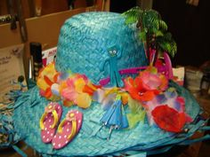 Side of the hat I made for the Jimmy Buffett Concert