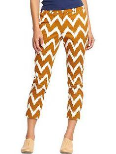 Women's Bold-Pattern Twill Capris $12.99
