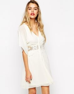 ASOS+Skater+Dress+with+Lace+Inserts+and+Kimono+Sleeves - Spiritual