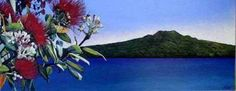 Rangitoto Summer by Jane Puckey for Sale - New Zealand Art Prints