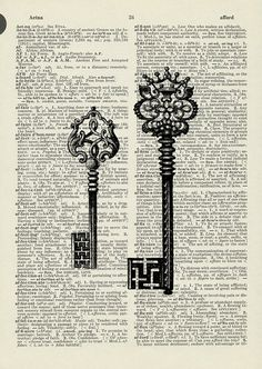 vintage skeleton key illustration