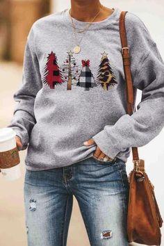 40% OFF. My favorite Hallmark & Christmas tree plaid winter sweatshirt. Got extra 10% off code Y10!! #christmastree#winteroutfits#sweatshirt#hallmarkmovies