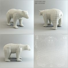 Buy Low Poly Base Mesh Bear by BITGEM on This package contains a low poly base mesh of a bear. The mesh consists of mainly quads and is optimized for sculptin. 3d Model Character, Character Modeling, Wireframe, Zbrush, Polygon Modeling, 3d Modeling, Low Poly Games, 3d Mesh, Low Poly 3d Models