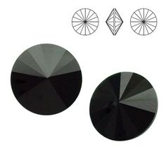 1122 Rivoli SS39 Jet 2pcs  Dimensions: diameter 8,16-8,41 mm Colour: Jet 1 package = 2 pieces