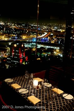 Spindletop Restaurant Houston, Texas, One of My Favorite Places in the World, the Dining Area Takes a Full 60 Minutes to Rotate 360 Degrees So As to Enjoy the Full View of Downtown Houston's Skyline from High Atop the Hyatt Regency Hotel, Fabulous, Fantastic Menu & Experience . . . . Especially For Our Family & Friends' Get-Togethers, Great Memories !!   <3