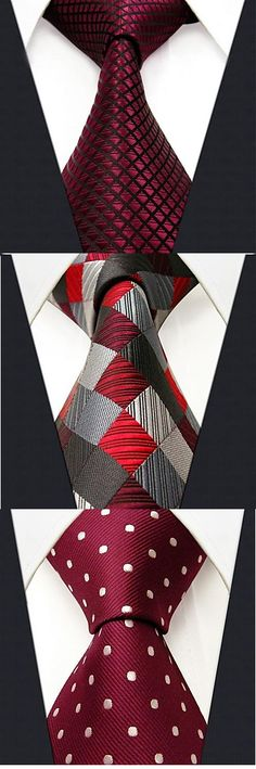 Stylish silk red neckties. Get one for your husband to match his suit. Explore…