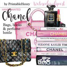 Coco Chanel handbag clipart Chanel clipart planner girl glam