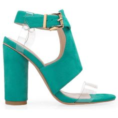 Privileged Women's Fixx - Teal ($95) ❤ liked on Polyvore featuring shoes, sandals, blue, teal shoes, high heels sandals, high heel shoes, strap high heel sandals and blue shoes