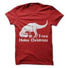 (Tshirt Produce) T-rex Hates Christmas Hoodie [TShirt 2016] Hoodies, Tee Shirts