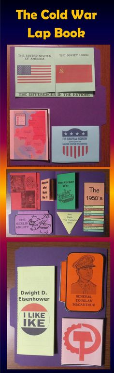 This Cold War Lap Book covers events in the 1940's and 1950's. It contains interactive organizers which may be glued onto a file folder to form a lap book, added to interactive notebooks, or used individually. $