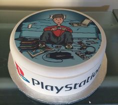 Boy in Bedroom on games console Edible Icing Topper &/or Ribbon Birthday Cake in Crafts, Cake Decorating Playstation Cake, Birthday Cake, Birthday Ideas, Snow Globes, Cake Toppers, Icing, Console, Cake Decorating, Ribbon