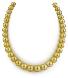 9-11mm Golden South Sea Pearl Necklace- AAAA Quality  $4,999.00 http://paradiseinternetmall.net/