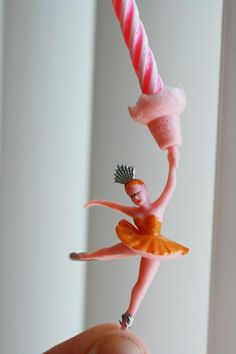 Vintage ballarina miniature ballarina candle holder by AbateArts, $3.00