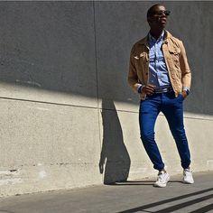 _______ Let go and move on  Page 222.  Denim Jacket / @Levis Washed Shirt / @Jcrew Skinny Tapered Color Jeans / @UniqloUSA SlipOn Sneakers / @Converse  Bracelets / @OurSaints Wayfarer Sunglasses / @RayBan Snowbird Belt / @fhwadsworth  Time Piece / Apple Watch