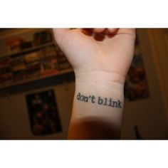 weeping angels tattoo. love it!