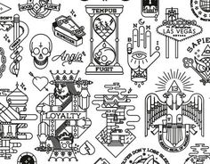 Here are some of my work recently uploaded to instagram.This is a collection of tattoo flash based on traditional style and is part of my personal project.___Aqui están algunos de mis trabajos, subidos recientemente en instagram.Se trata de una colec…