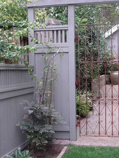 Garden gate I love this! It would make such a pretty entrance to my back yard!