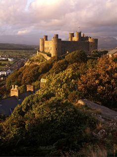 Harlech Castle, Wales, UK-- Edward I built Harlech in the late 13th century, altho' in 1404 it was captured by Owain Glyn Dwr who proceeded to hold a parliament there. A long siege here during the Wars of the Roses inspired the stirring song 'Men of Harlech'.