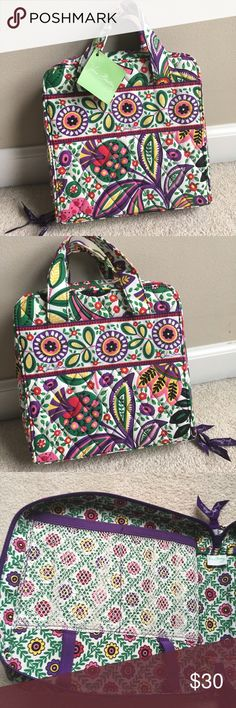 NWT Vera Bradley Tech Organizer This is a Vera Bradley bag from the Viva la Vera design! It is NWT and has lots of pockets inside and would be a great bag to hold and organize things! It has a beautiful design which is sure to show off your sophisticated taste! Vera Bradley Bags Mini Bags