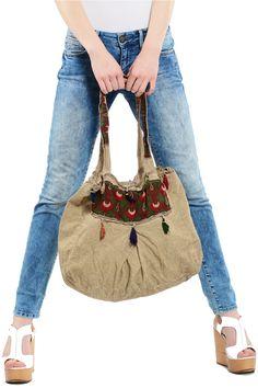 Otantik Başak Lale Desen Çanta Modelli - Kadın Giyim